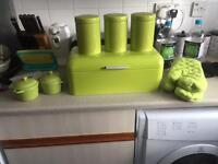 Lime green kitchen ware