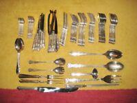 Unused 134 Piece Set Of Sheffield Stainless Steel EPNS Cutlery