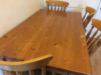 Beautiful Solid Wood Dining Table and 4 Chairs