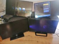4 led smart TV's spares or repairs