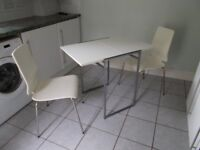 White table and 2 Chairs - IKEA