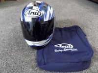 Blue/Black/White Arai Motorbike Helmet