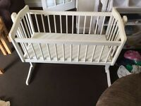 Baby swinging crib , bought as gift but not wanted therefore selling it .