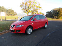 SEAT ALTEA XL TDI DIESEL MPV 6 SPEED STUNNING RED 2007 ONLY 97K MILES BARGAIN 2450 *LOOK*PX/DELIVERY