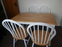 Kitchen/Dining Table & 4 Matching Chairs