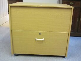Drop File storage, removable lid, with additional drawer storage - on wheels