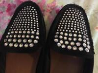Diamanté shoes