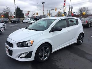 2013 CHEVROLET SONIC RS AUTO- SUNROOF, HEATED LEATHER SEATS, REM