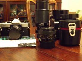 Film SLR camera and lens kit