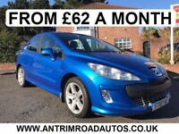 2008 PEUGEOT 308 SPORT 1.6 ** 60,000 WARRANTED MILES ** FINANCE AVAILABLE WITH NO DEPOSIT