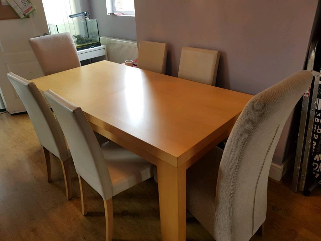Next Dining Table And 6 Chairs Reduced In Bury