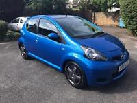 Toyota Aygo Blue VVT-1 2010 low mileage cheap to run full service history 5 doors MOT until October