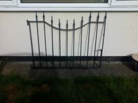 Black ornamental gate