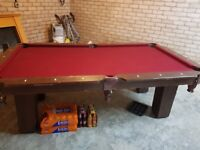 7ft x 4ft pool table