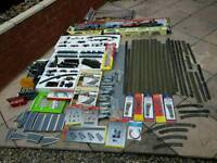 Oo gauge track and rolling stock + a few other items Inc, controllers