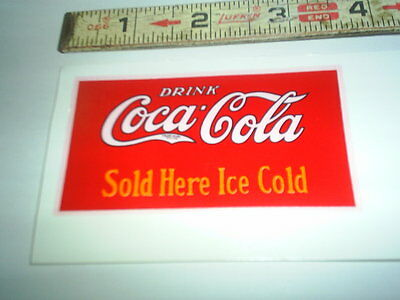 Original Coke Real water decal (new old stock ) C@@L #2 stock#250