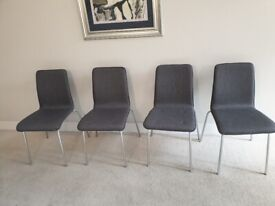 4 utility chairs polyurethane foam pad very good condition and quality