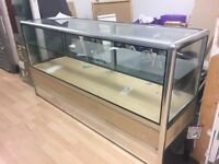 Glass shop display cabinet in a very good condition