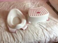 Toilet seat and step