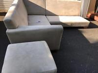 This is a Heals sofa & ottoman set