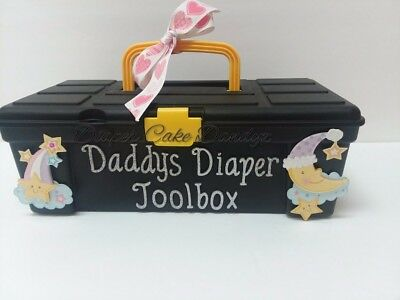 diaper cake toolbox boy girl neutral baby gift shower brand new one of a kind