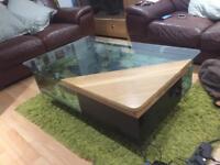 Oak coffee table fish tank