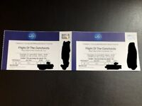 2 x Flight of the Conchords Tickets @ The O2, Block 101, Row K, INCREDIBLE SEATS!!!