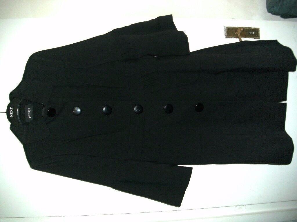 LADIES BLACK COAT SIZE 14