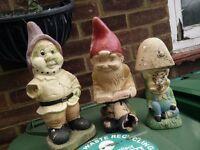 Selection of garden gnomes