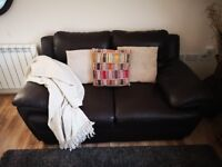 Lovely Leather Chocolate Brown 2 Seater sofa