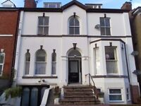 one bed 1st fl flat in town centre, parking, gch, unfurn, fitted kitchen, viewing recommended