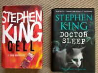 2 Books by Stephen King. Cell, Doctor Sleep. As new.