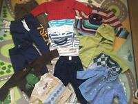 Bundle of boys clothes 9-12 and 12-18, 37 items