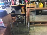 Glass TV unit and DVD Stand
