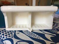 Bathroom soap holder - antique ceramic