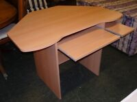 Computer Desk in Light Wood Effect