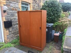 Wooden wardrobe - free to collector