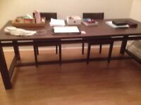 Large Dining Table and 6 Chairs