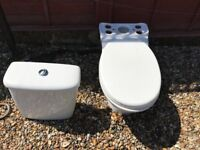 Ideal Standard sink with pedestal and close couple toilet