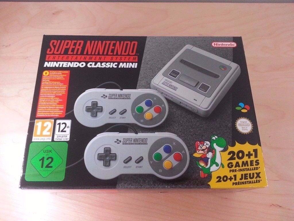 SNES Classic Mini Super Nintendo - unused, unopened - sold out