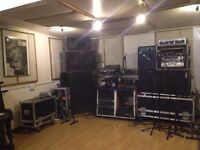 Studio Space to Share for Producers, Bands, Teachers for Rehearsal and Recording