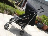 O Baby Stroller fully adjustable pushchair ideal toddler , lay flat. sun canopy
