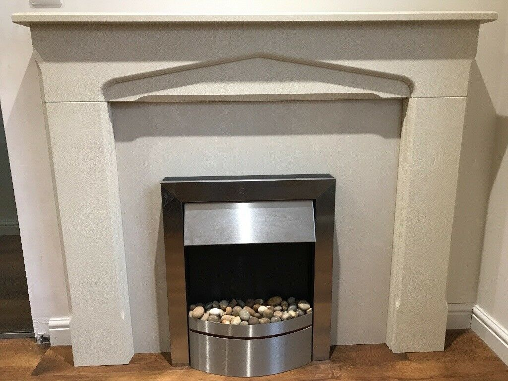 Electric Fire, surround and marble insert