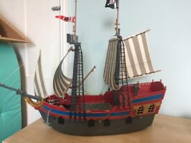 Playmobil pirate ship and accessories