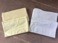 Moses basket/Pram sheets and blankets
