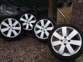 "4x Genuine Fiesta Zetec 16"" alloy wheels with tyres (195/45/16)"