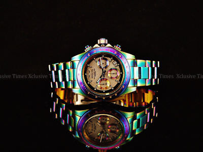 NEW Invicta 40mm Speedway Quartz Chronograph Platinum MOP Dial IRIDESCENT Watch