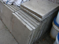 CONCRETE SLABS 2FT X 2FT (600 X 600) GREY USED