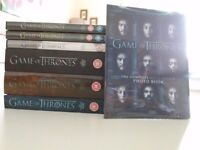 Game of Thrones dvds Season 1-6. Photo book inc.