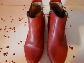 Ankle red boots by Russell & Bromley
